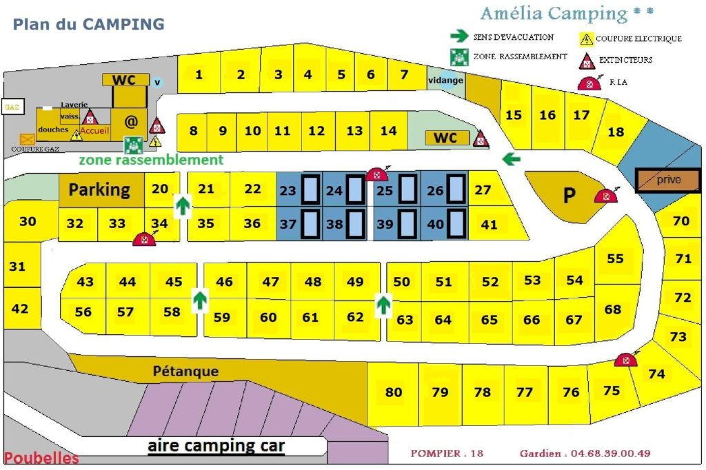 Plan camping Amelia